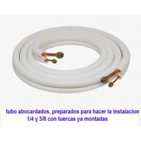 """Tubos 1/4""""-5/8"""" abocardados con tuercas de 3 metros en rollo"""