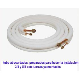 Tubos 3/8 Y 5/8 abocardados con tuercas de 3 metros en rollo