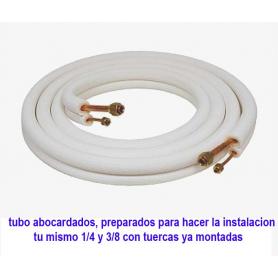 KIT INSTALACION Tubo aluminio Y cobre y abocardado y tuerca