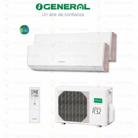GENERAL Multi Split 2X1 AOG14UI-KB + ASG 07 MI-KG + ASG 07 MI-KG-R32