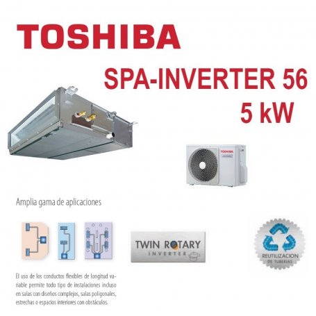 TOSHIBA SPA INVERTER 56  CONDUCTOS
