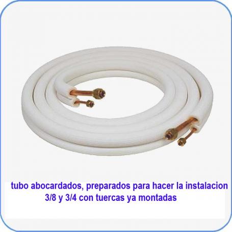 Tubos 3/8  Y  3/4   abocardados con tuercas de 3 metros en rollo