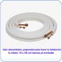 ✅KIT 5 metros Tubo  aluminio  Y  cobre y abocardado y tuerca 1/4 +3/8✅